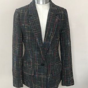 Gray Plaid BB DAKOTA Wool Blend Blazer Size 6